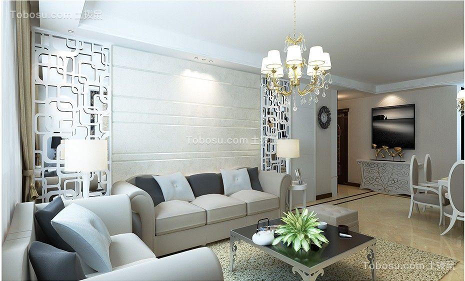 客厅白色沙发后现代风格装饰效果图