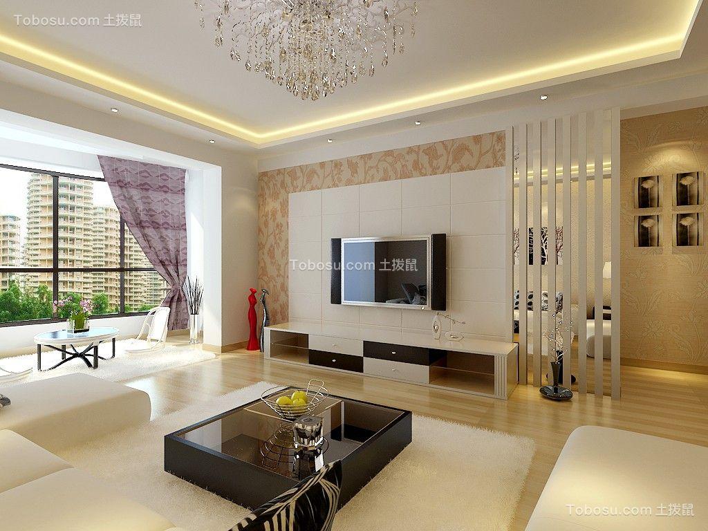 鸿远润园170平米三室两厅现代简约装修效果图