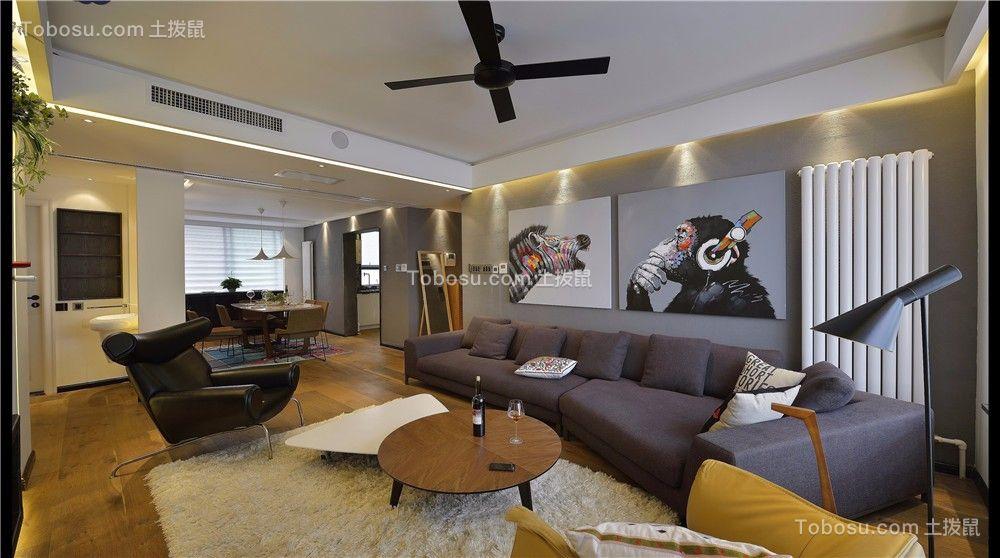 九州公馆120平现代风格三居室装修效果图