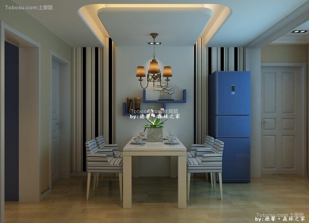 1300平米中式风格三居室装修效果图
