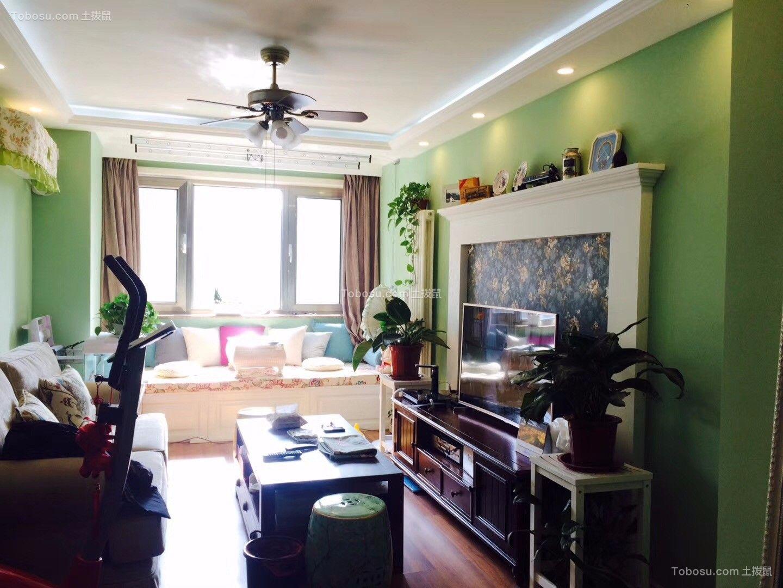 簡約風格76平米兩室兩廳新房裝修效果圖