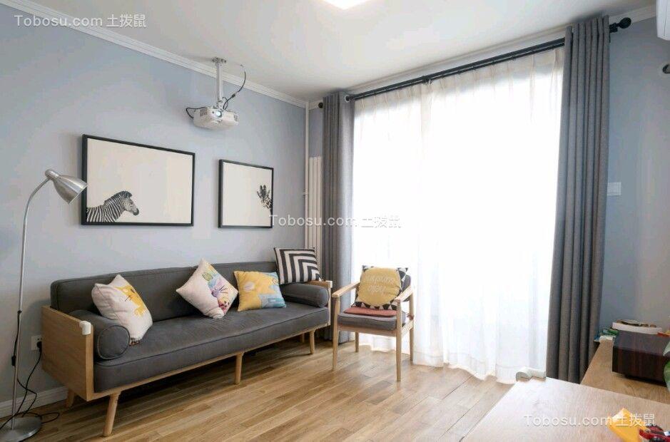 混搭風格70平米兩室兩廳新房裝修效果圖