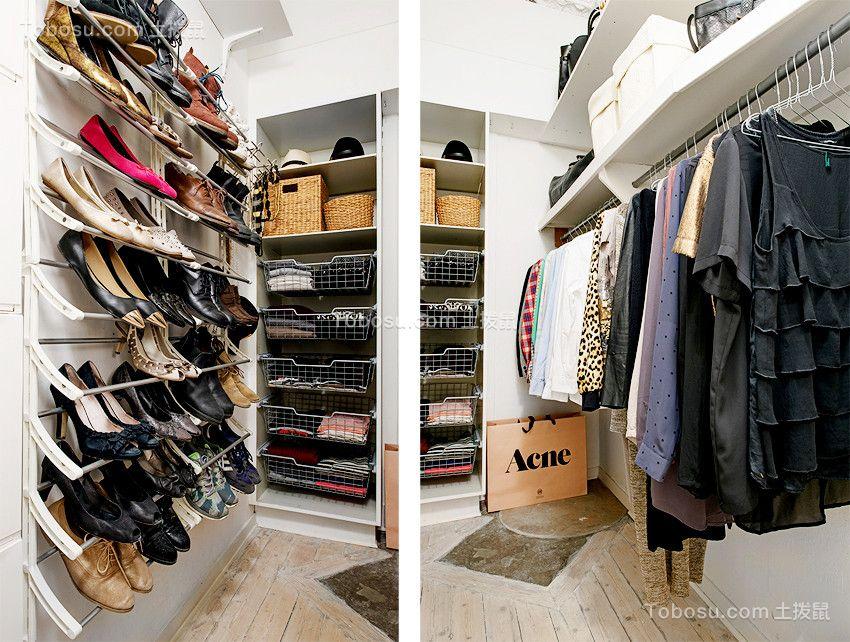衣帽间白色鞋柜现代简约风格装修图片