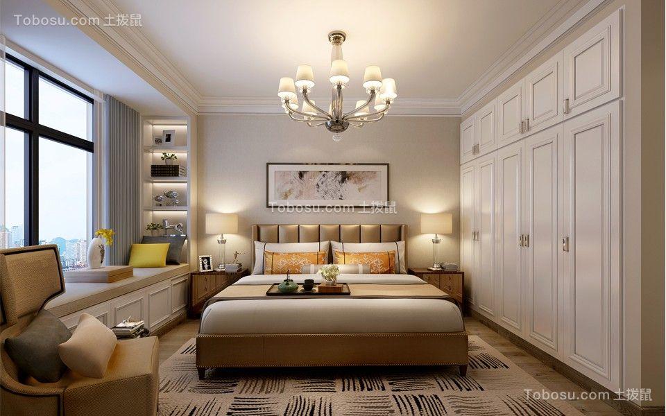简约风格104平米三室两厅新房装修效果图