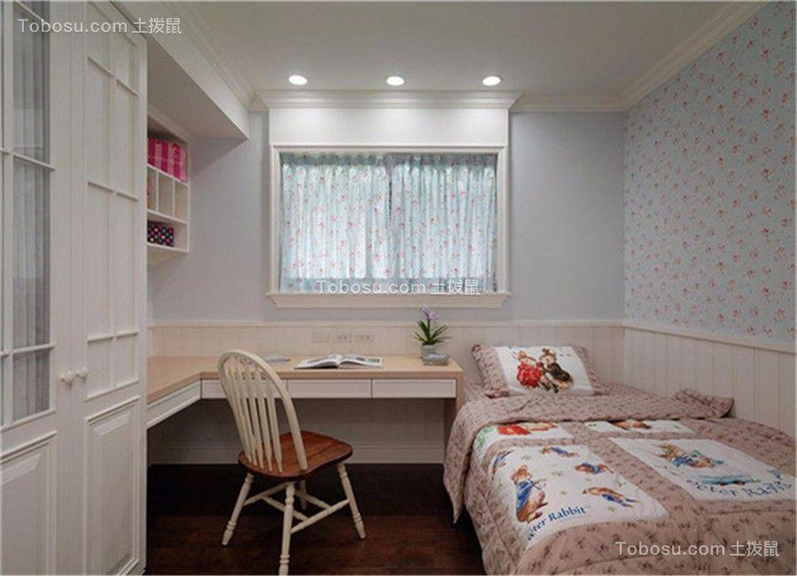 卧室米色书桌欧式风格装修效果图