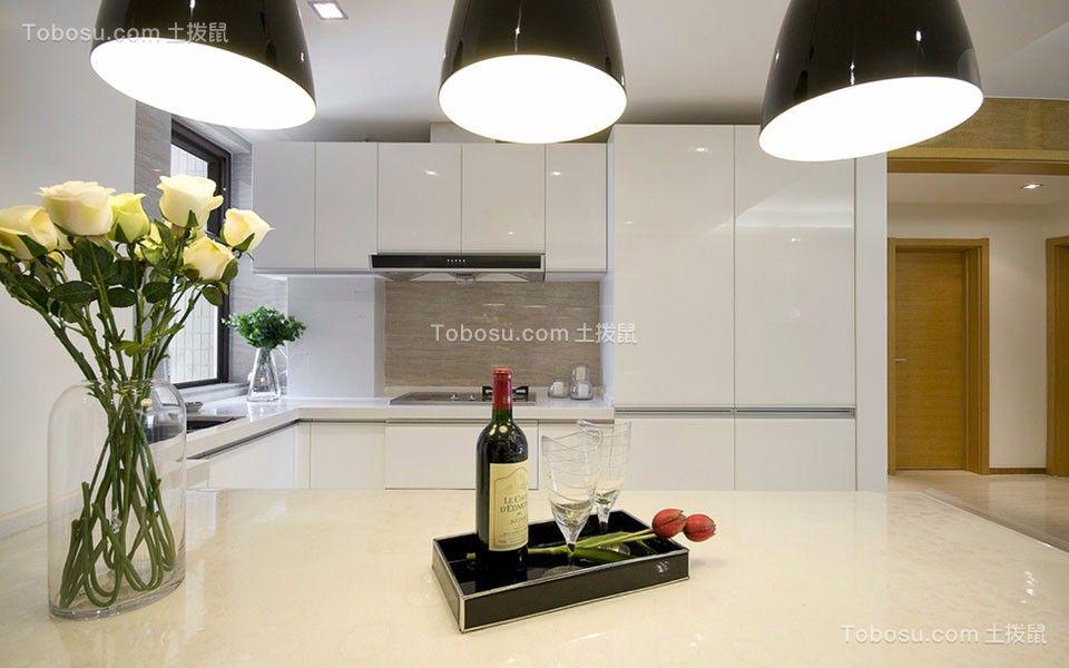 厨房白色灯具现代简约风格装潢图片