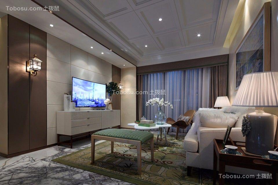 北欧风格150平米三室两厅新房装修效果图