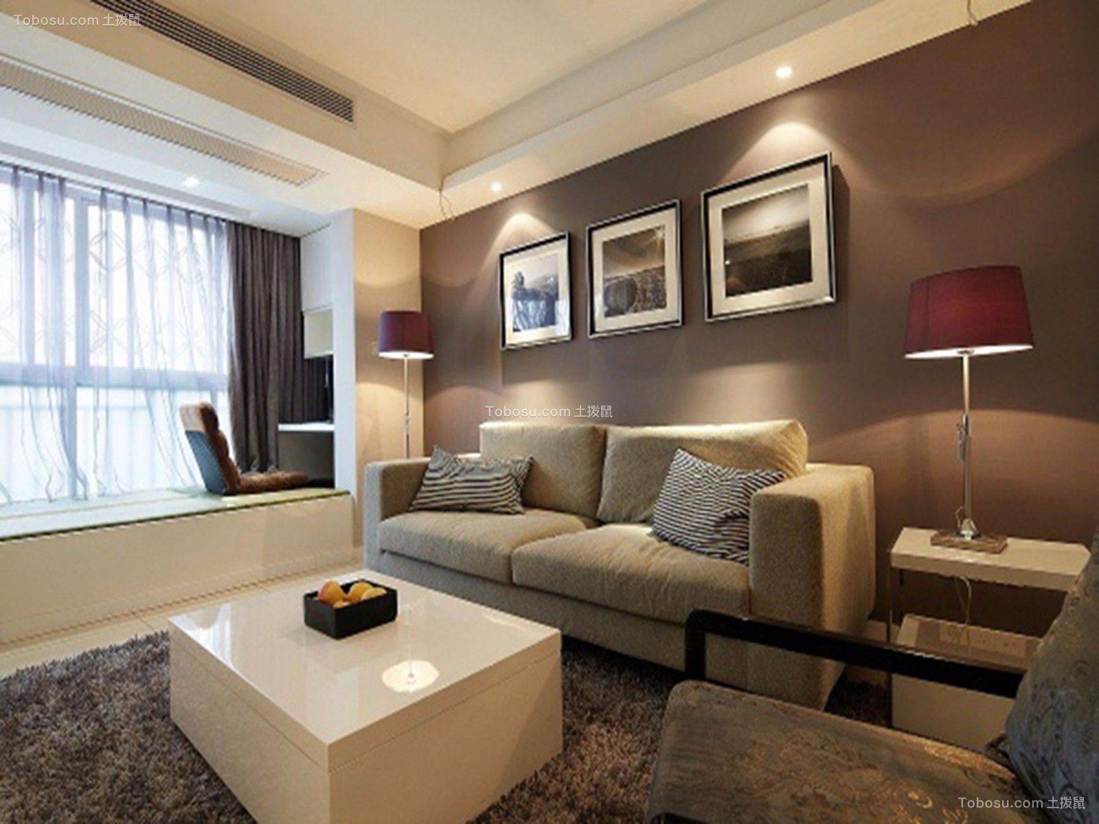 客厅米色沙发现代简约风格装修效果图