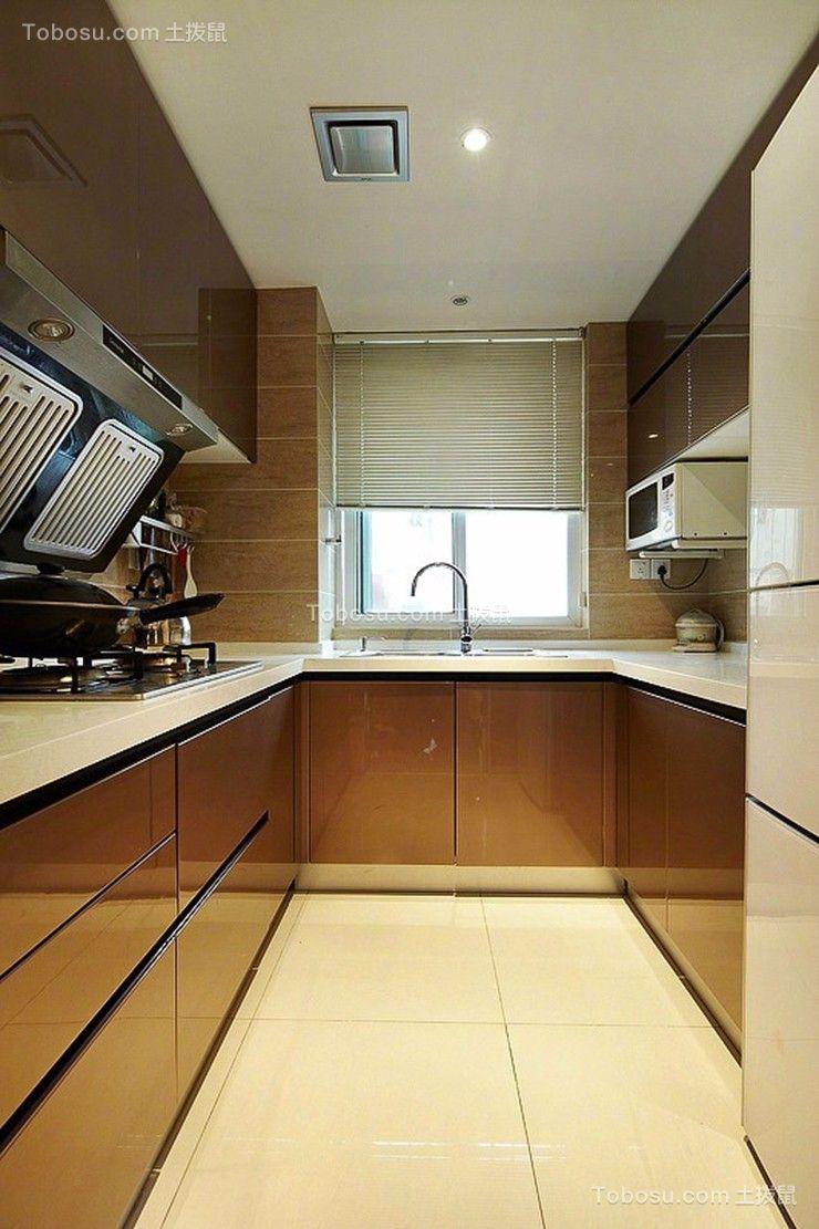 厨房米色厨房岛台现代简约风格装潢效果图