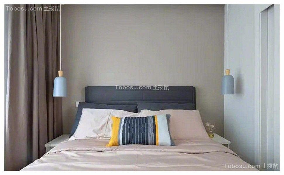 卧室粉色电视柜现代简约风格装潢图片