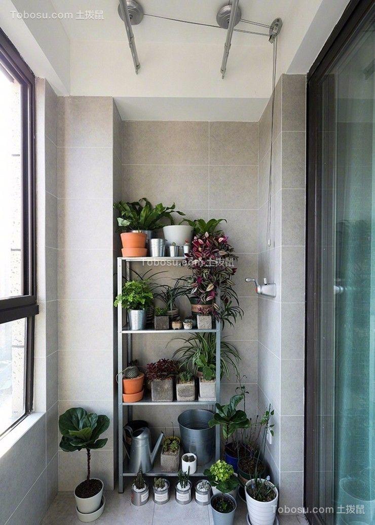 阳台米色地砖现代简约风格装潢设计图片