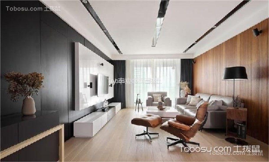 汉口年华130平米简约风格三居室装修效果图