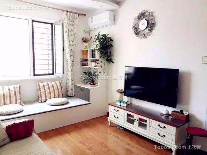 客厅橙色地板砖现代简约风格装饰图片