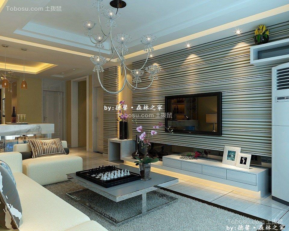 120平米现代风格三居室装修效果图