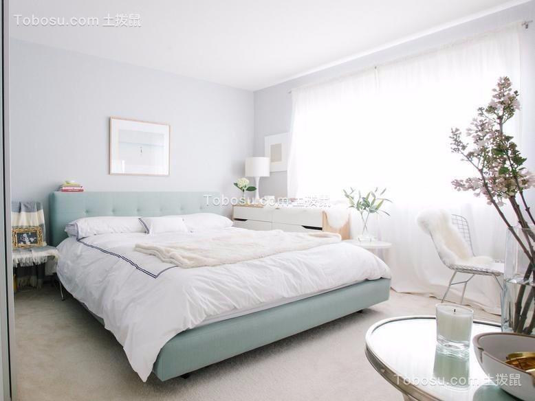 卧室白色床中式古典风格装潢效果图