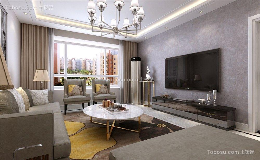 八十九平现代简约两居室装修效果图