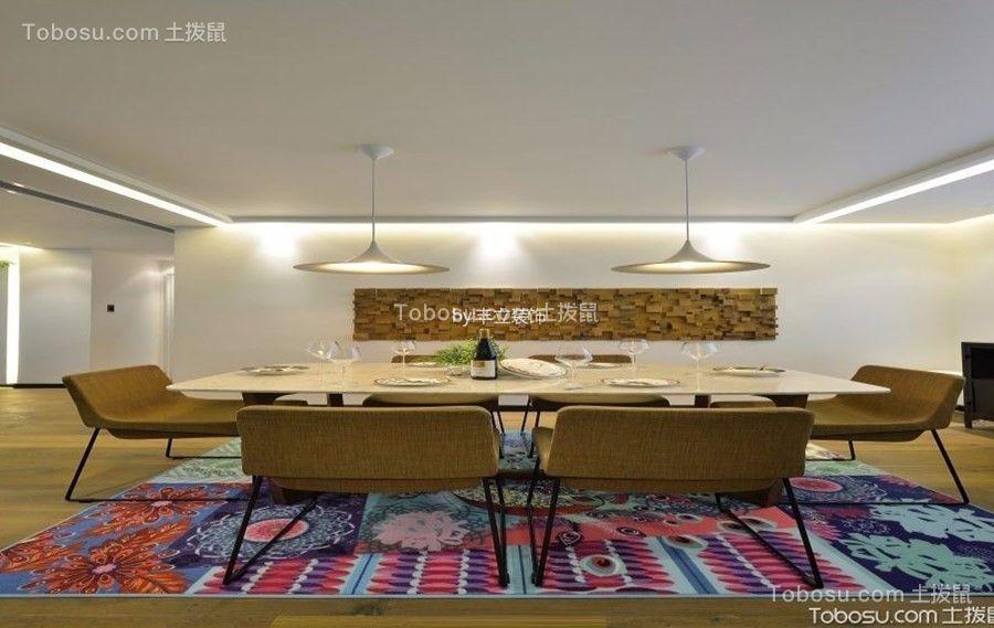 广电兰亭荣荟100平现代风格三居室装修效果图