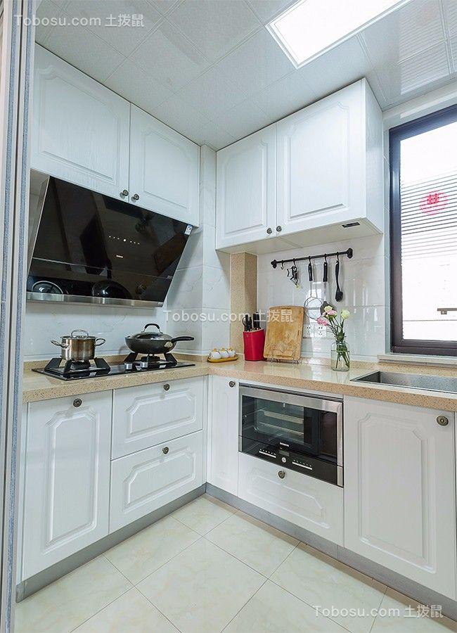 厨房白色厨房岛台田园风格装修设计图片