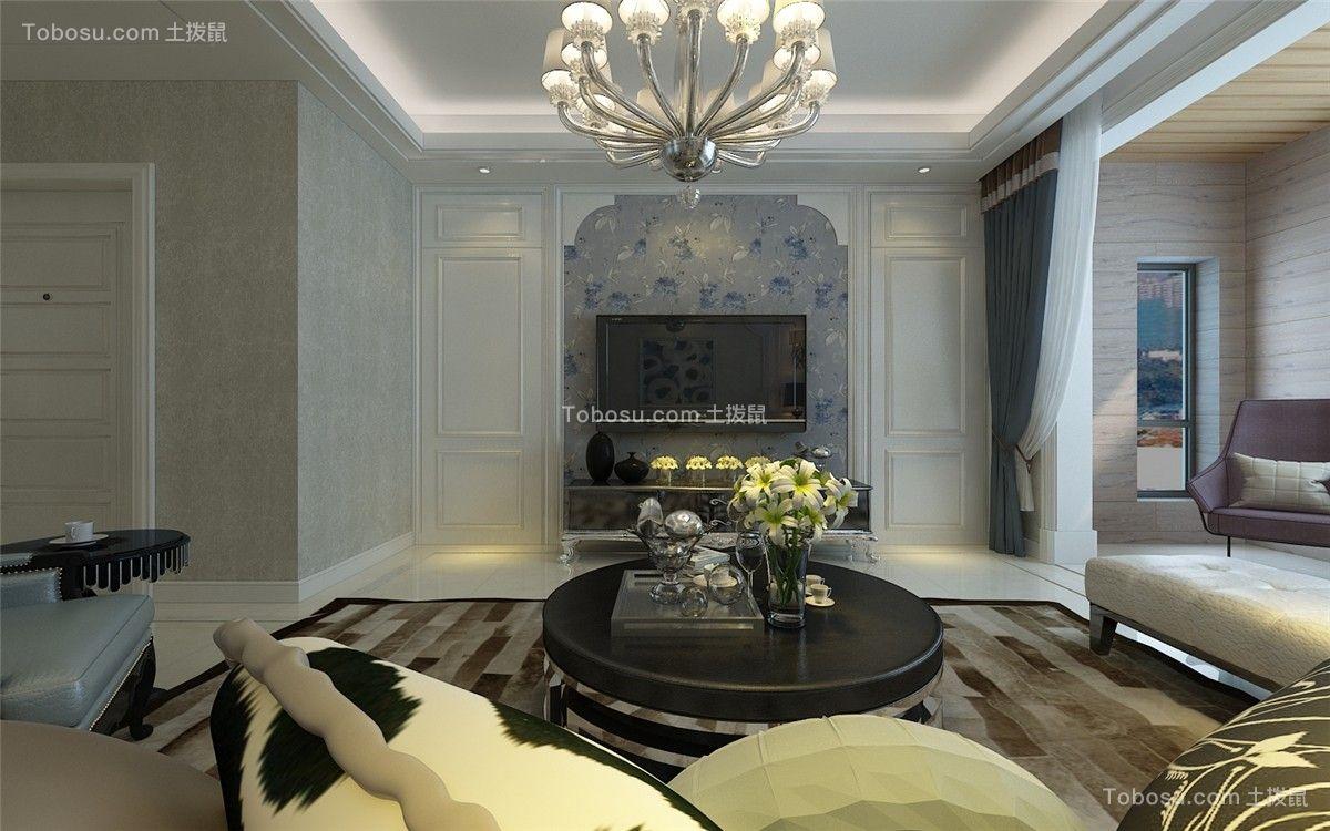 客厅咖啡色背景墙现代风格装饰设计图片