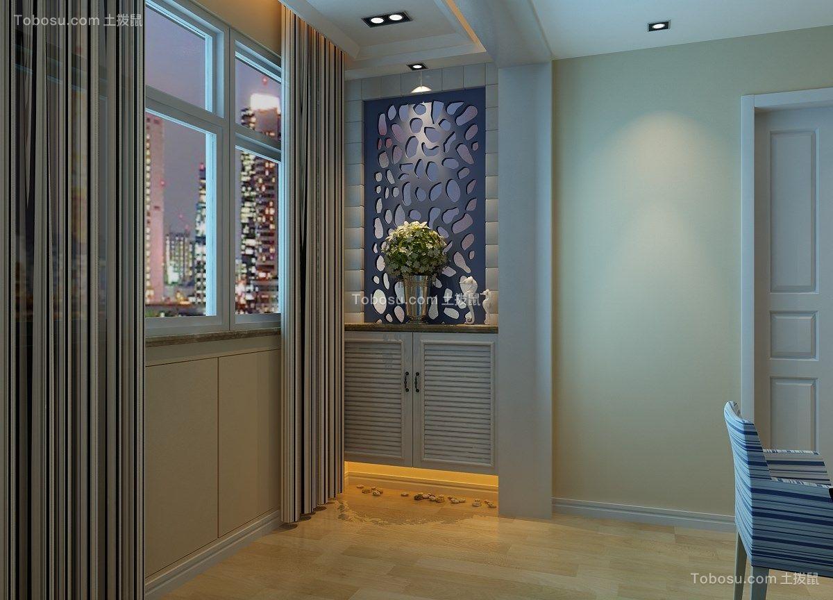 客厅米色背景墙地中海风格效果图