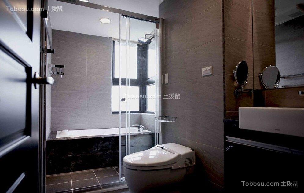 卫生间彩色推拉门现代简约风格装修设计图片