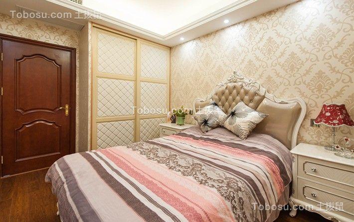 卧室粉色床美式风格装潢图片