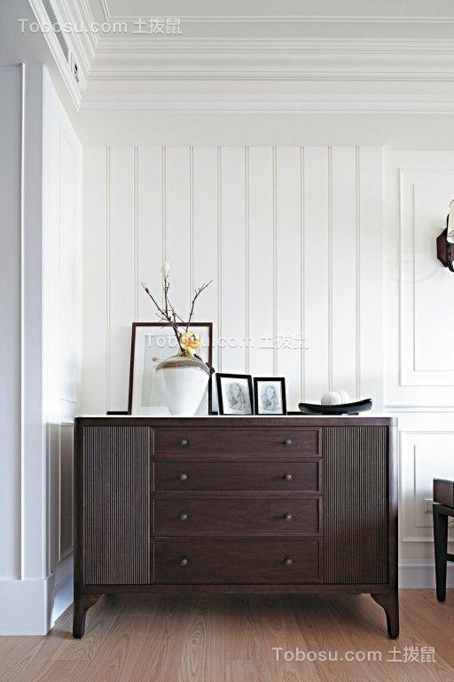玄关白色鞋柜简约风格效果图