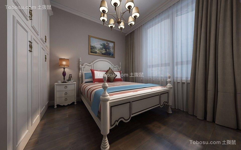 卧室米色床简约风格装修设计图片
