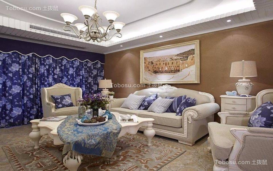 雅居乐三居室110平米地中海风格装修效果图