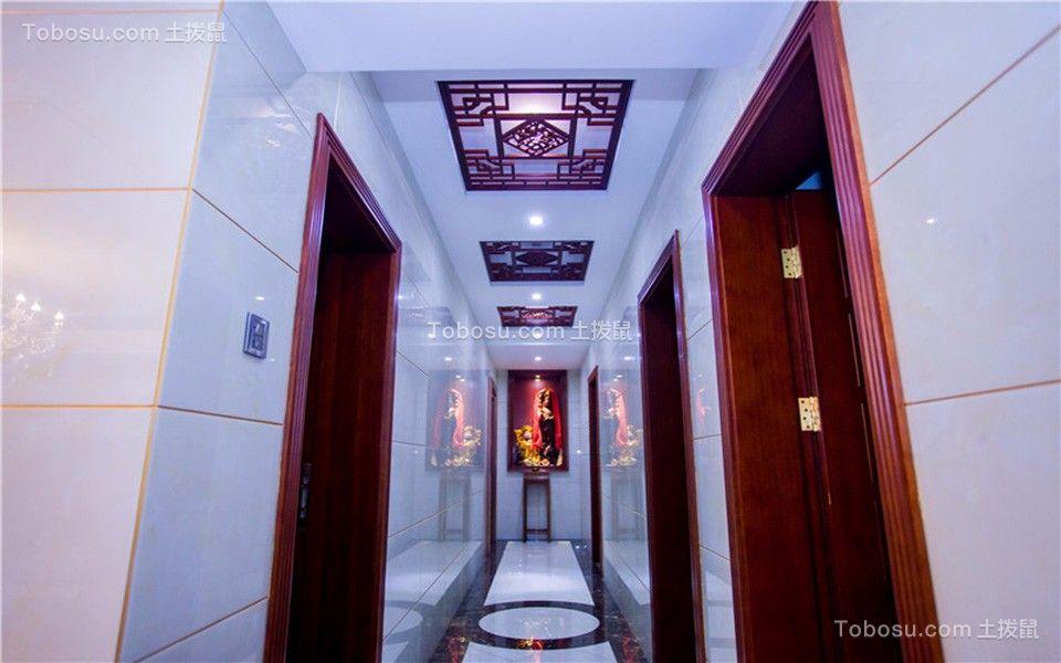 玄关白色走廊中式古典风格装饰图片