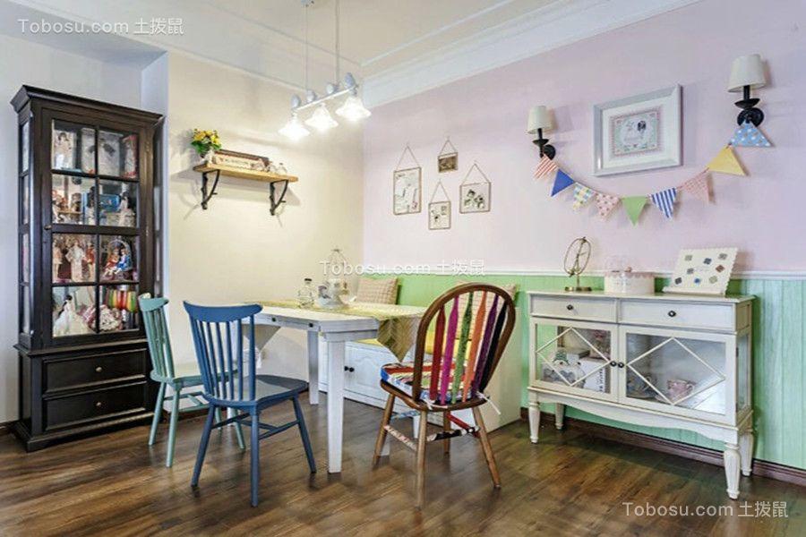 餐厅白色餐桌美式风格装饰效果图