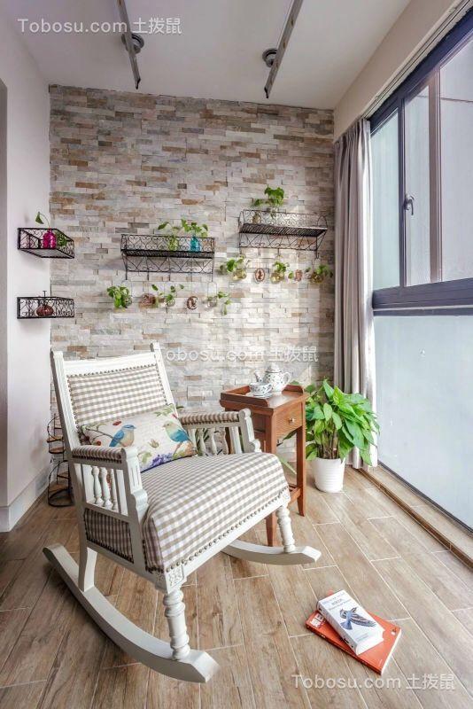 阳台米色走廊美式风格装潢效果图