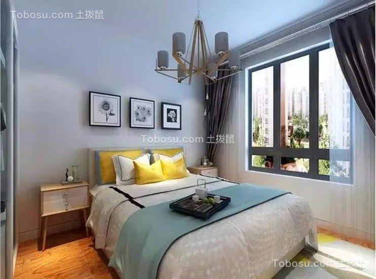 卧室白色照片墙现代简约风格装潢设计图片
