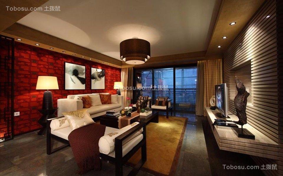 客厅灰色地板砖新古典风格装潢效果图