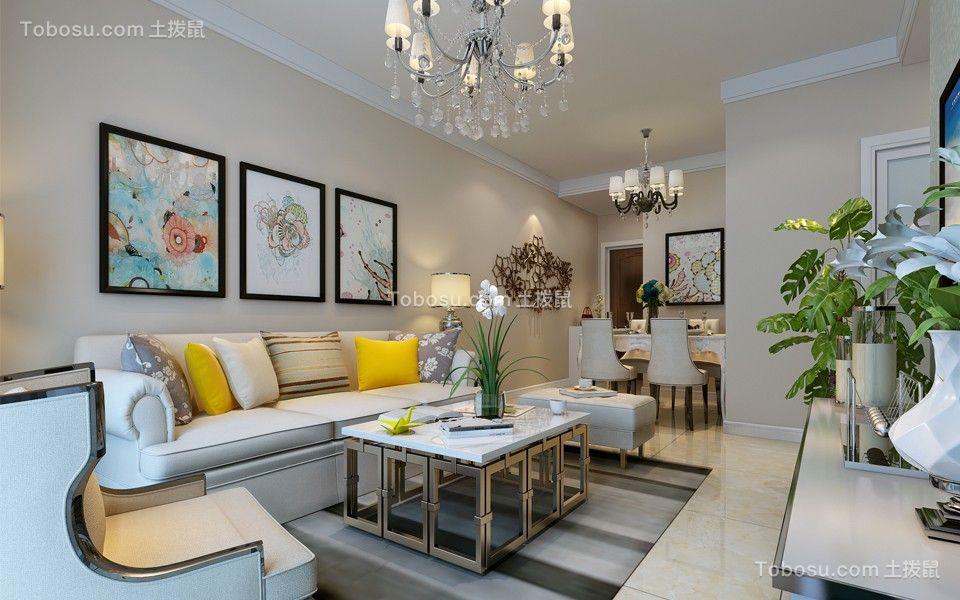 客厅绿色沙发现代简约风格装潢设计图片