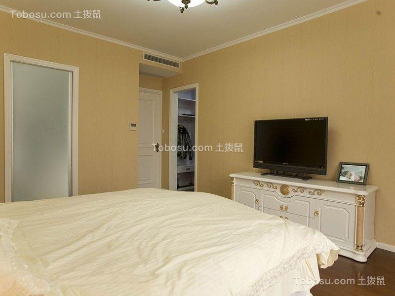 卧室白色电视柜简约风格装潢图片