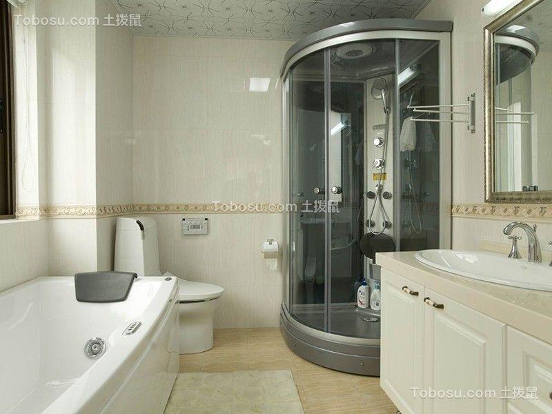 卫生间白色洗漱台简约风格装饰设计图片