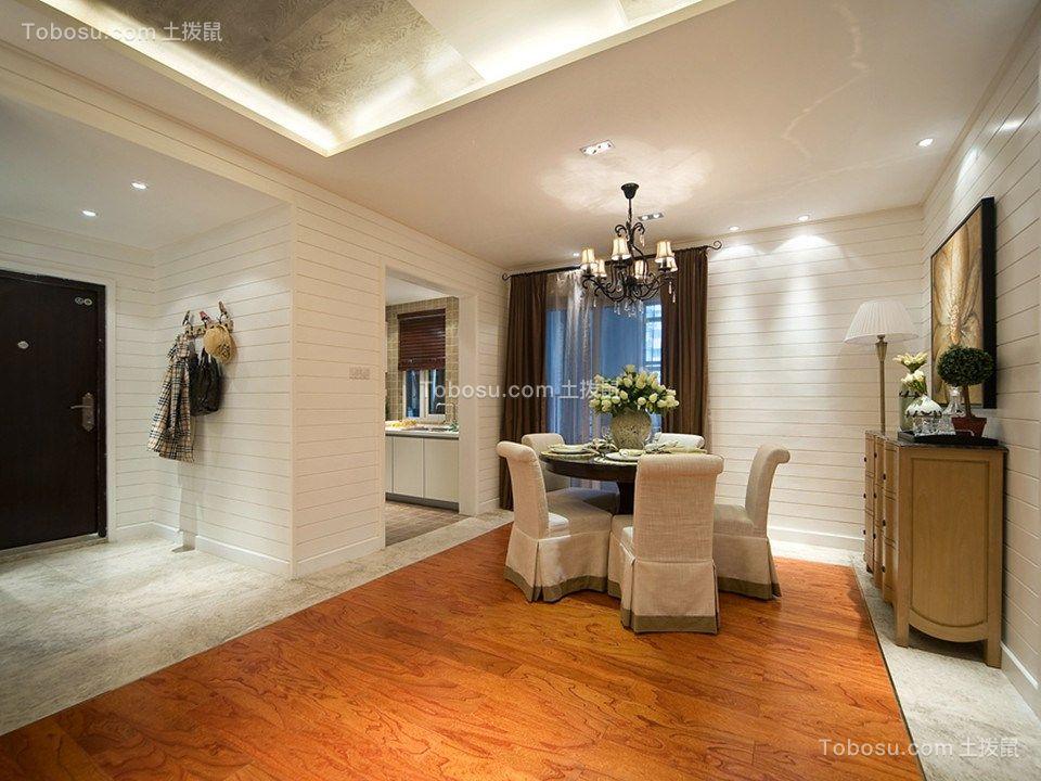 餐厅咖啡色窗帘混搭风格装修设计图片