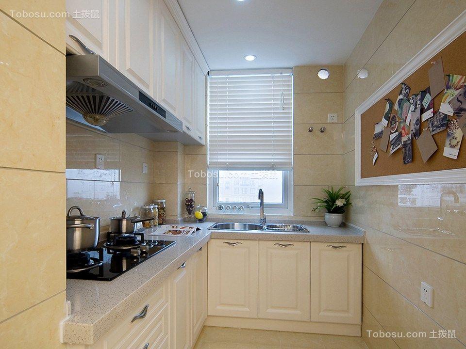 厨房白色橱柜现代风格装修图片