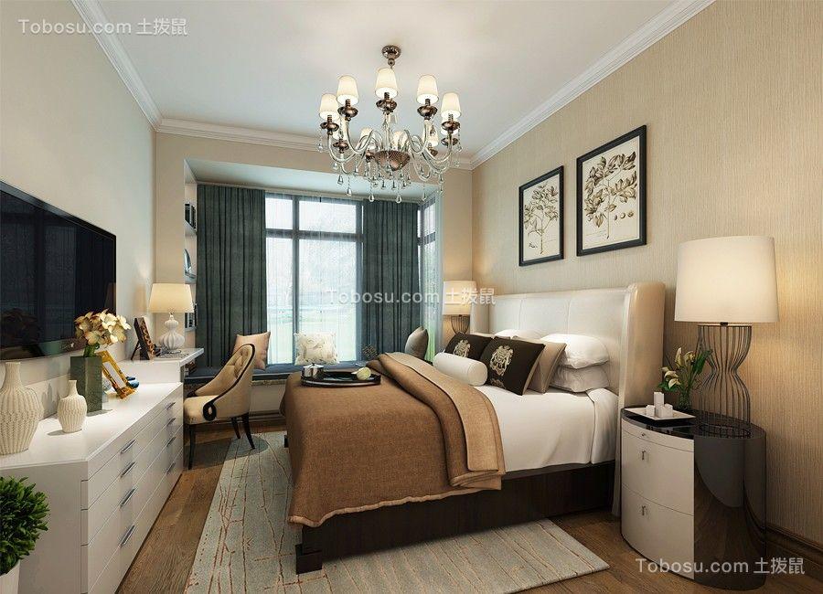 卧室米色吊顶现代简约风格装潢效果图