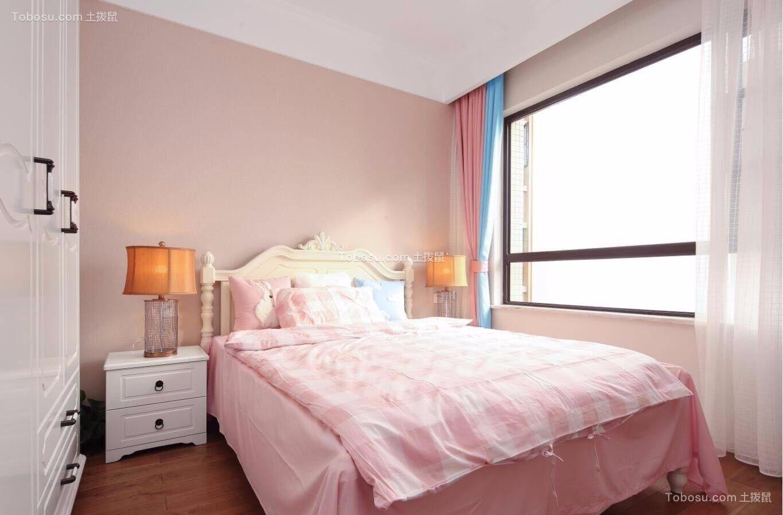 卧室粉色床美式风格装饰设计图片