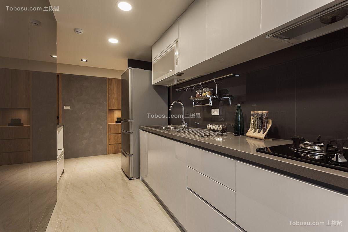 厨房灰色橱柜现代简约风格装潢图片