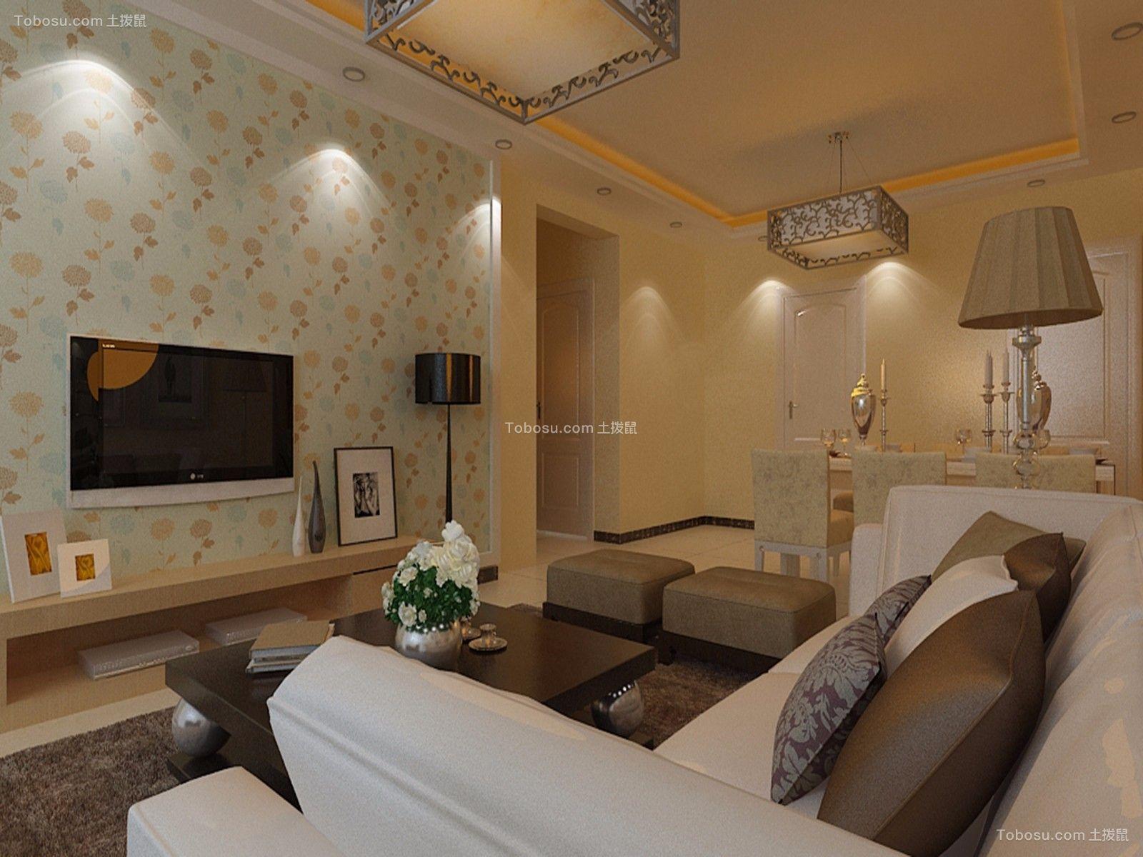 客厅彩色沙发简约风格装潢设计图片