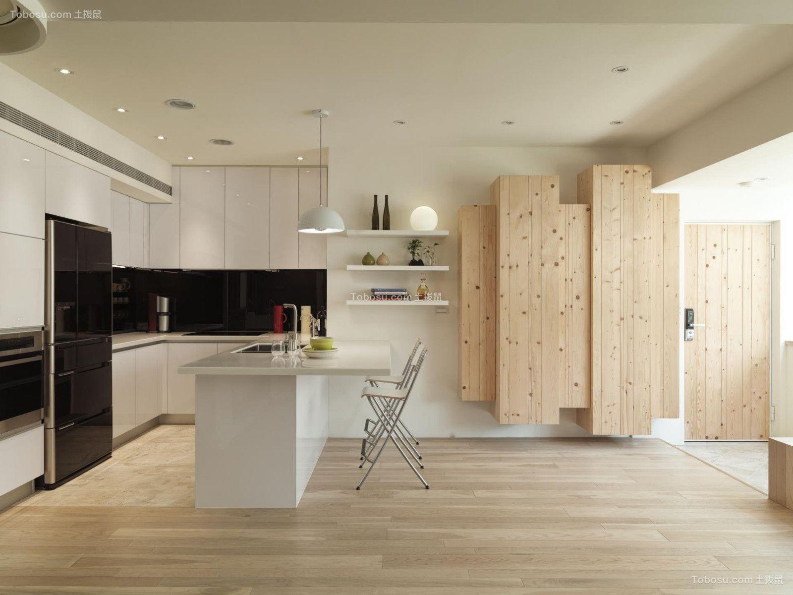 厨房白色橱柜现代简约风格装潢效果图