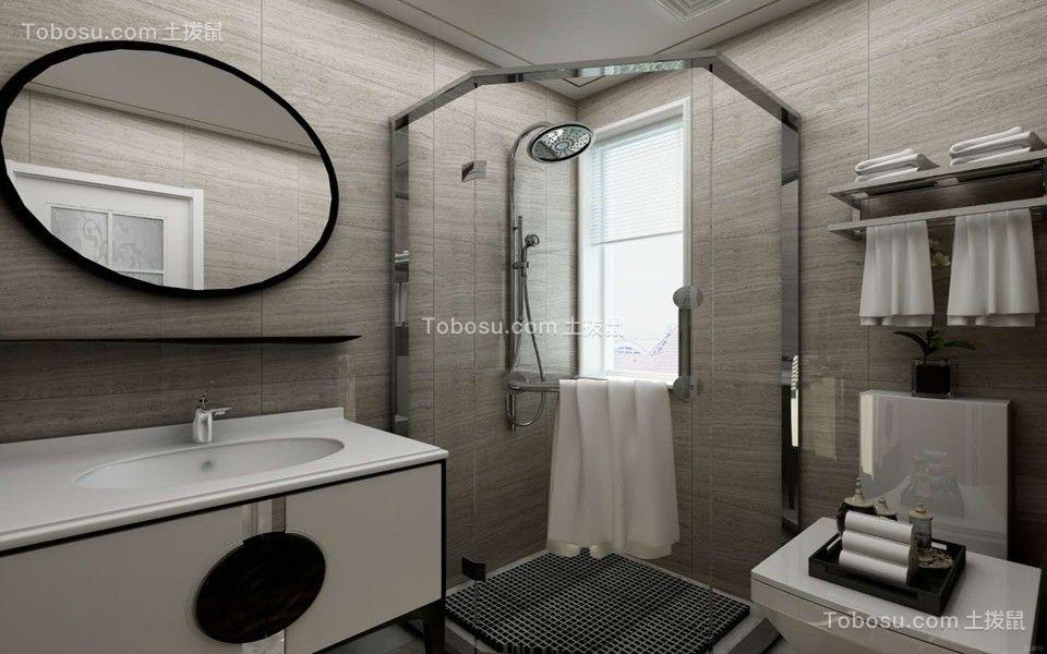卫生间灰色推拉门现代简约风格装修设计图片
