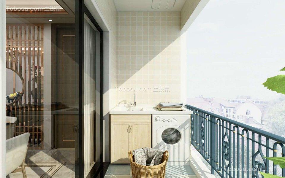 阳台米色落地窗现代简约风格装饰设计图片