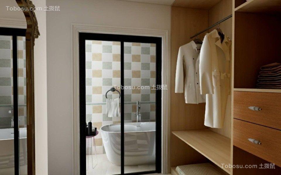 浴室白色北欧风格装饰图片