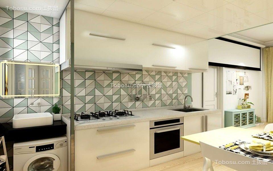 厨房彩色北欧风格装修设计图片