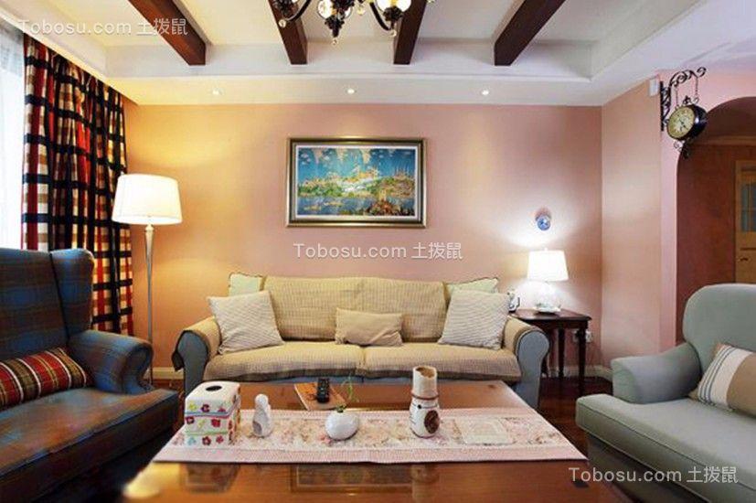 典雅花溪半岛地中海风格97平三居室装修效果图