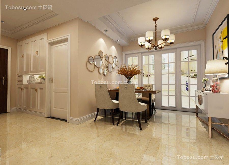 餐厅白色灯具美式风格装饰效果图
